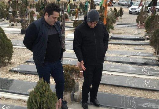 حضور امیر قلعه نویی در آرامستان تبریز