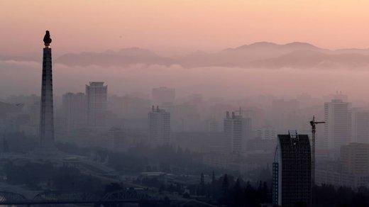 برج جوچه در شهر پیونگیانگ کرهشمالی