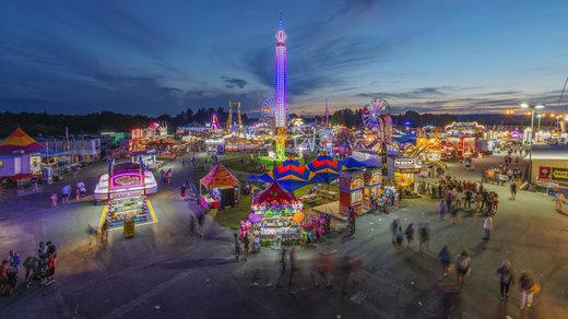 افتتاحیه نمایشگاه ایالتی 2018 در شهر فایرلا ایالت ویرجینیای غربی آمریکا