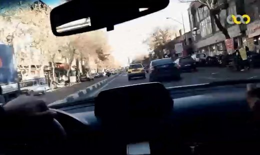 فیلم | تعقیب و گریز پلیس با سارق خودرو در تهران