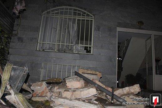 انفجار گاز در ساختمان مسکونی در تهران نو