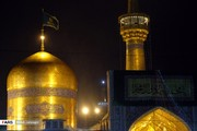 تصاویر | حال و هوای حرم رضوی در شب میلاد پیامبر اکرم(ص)