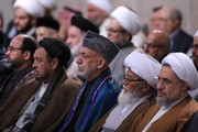 تصاویر | دیدار مسئولان نظام و میهمانان کنفرانس وحدت اسلامی با رهبر انقلاب