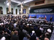عکس|دیدار مسئولان نظام و میهمانان کنفرانس وحدت اسلامی با رهبر انقلاب