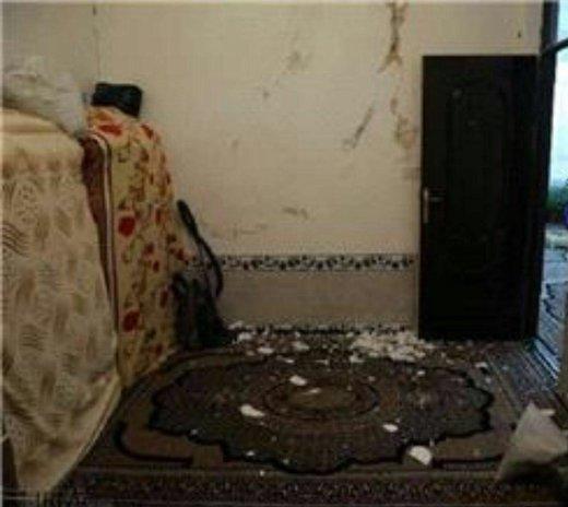 خسارت وارد شده به یک واحد مسکونی در ثلاث باباجانی
