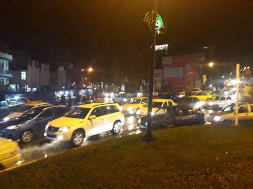 هجوم مردم بعد زلزله به خیابان و ترافیک سنگین در جوانرود