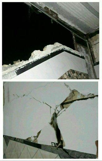 خسارات زلزله به منازل مسکونی شهرستان ثلاث باباجانی