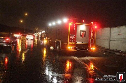 ۲ کشته و ۸ زخمی بر اثر تصادف ۲ خودرو در بزرگراه یاسینی