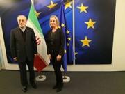 دیدار صالحی و موگرینی با موضوع برجام و تحریمهای غیرقانونی آمریکا