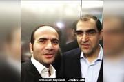 فیلم | شوخی وزیر بهداشت با حسن ریوندی در آسانسور