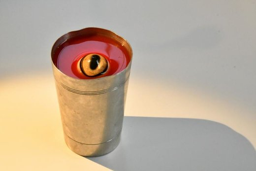 نوشیدنی مغولستانی در موزه غذاهای زشت در شهر مالمو سوئد
