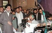 عکس | تیراندازی یک جانباز در حضور رهبر انقلاب