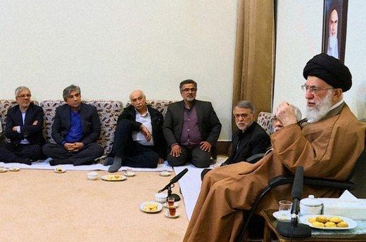 دیدار جمعی از بازیگران، کارگردانان و تهیهکنندگان سیما با رهبر معظم انقلاب اسلامی