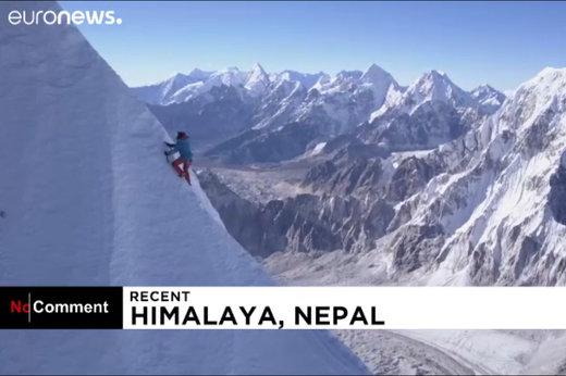 فیلم | برای اولین بار در تاریخ: صعود یک نفره به قلهای در هیمالیا