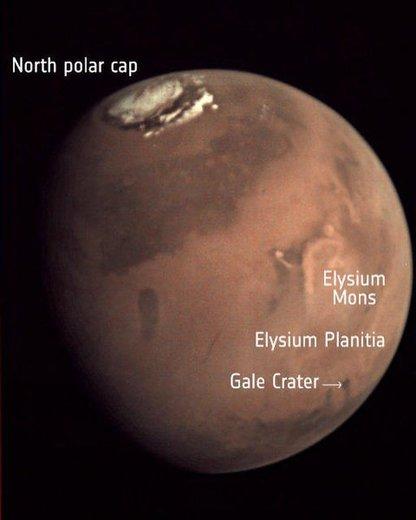 تصویر مکان دقیق فرود «اینسایت»