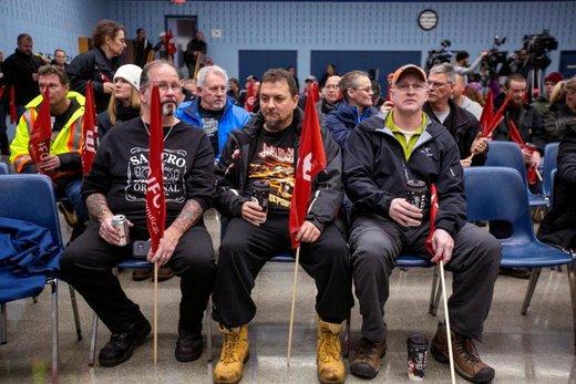 گردهمایی کارکنان جنرال موتورز در شهر اوشاوا استان اونتاریو کانادا