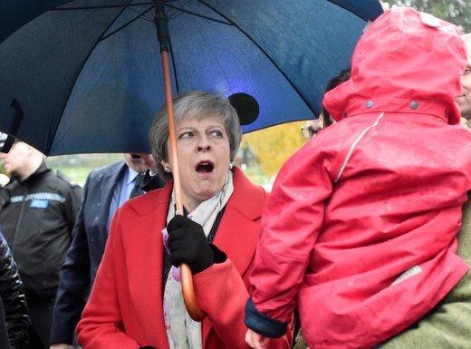 ترزا می، نخست وزیر بریتانیا، در نمایشگاه زمستانی رویال ویلز در ولز