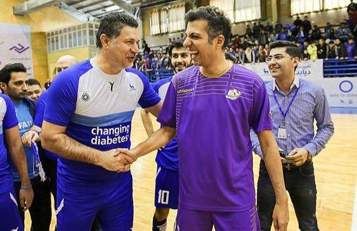 علی دایی و فردوسیپور همبازی شدند/ عکس