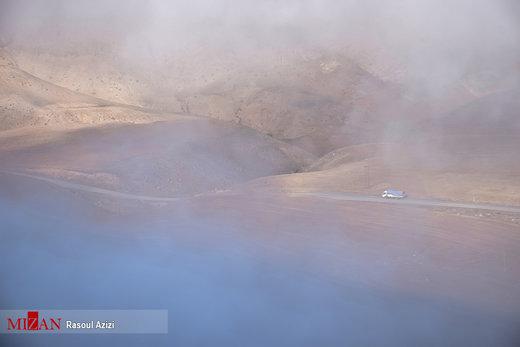 مه آلود شدن ارتفاعات هزار مسجد
