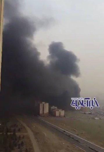 آتشسوزی رزمال مهار شد/ ۳ کارگر مصدوم شدند