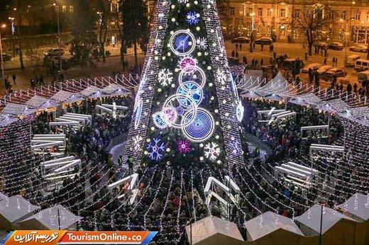 درخت کریسمس در لیتوانی