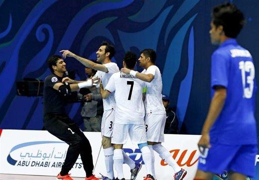ایران گام اول را در راه فوتسال قهرمانی آسیا محکم برداشت