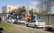 عکس | خودروهایی که در حمله تروریستی چابهار نابود شدند