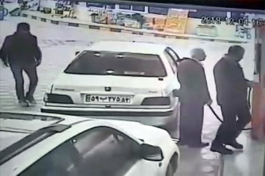فیلم | سرقت پژو در پمپبنزین در یک چشمبههمزدن!