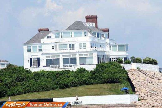 خانه ساحلی در رود آیلند که دارای 7 اتاق خواب و یک استخر بزرگ است