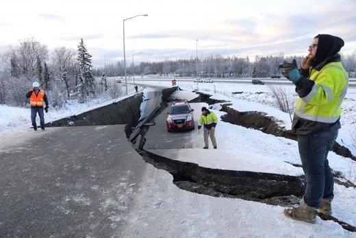 خسارات زلزله ۷ریشتری در شهر انکوریج ایالت آلاسکای آمریکا