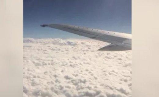 فیلم | لحظاتی از پرواز تهران به اهواز که کمتر شانس دیدنش را دارید