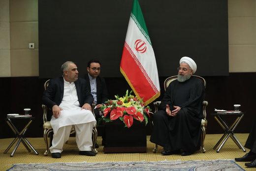 سخنان روحانی خطاب به رئیس مجلس پاکستان درباره مرزبانان ربوده شده