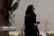 عکس | گلاره عباسی در مراسم تشییع پیکر فرجالله حیدری