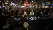Thousands protest against government in Serbia