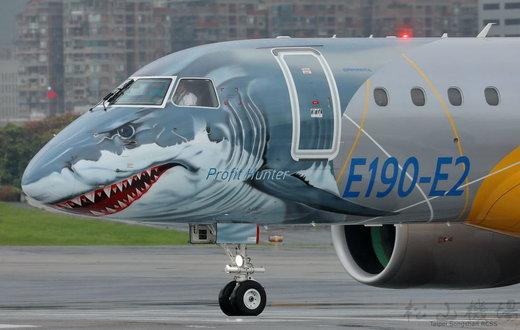 نسل جدید هواپیمای  Embraer-190 E2  با شکل کوسه