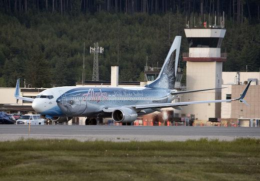 هواپیمای متعلق به شرکت هواپیمایی آلاسکا ایرلاینز آمریکایی