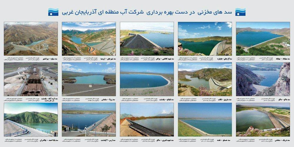 میزان آب ذخیره سدهای آذربایجانغربی