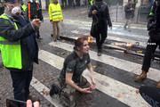 فیلم | ویدئویی تکاندهنده از تظاهرات پاریس+زیرنویس فارسی
