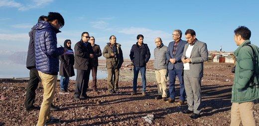 بازدید مدیران دفتر عمران سازمان ملل و کاردار سفارت ژاپن از پارک ملی دریاچه ارومیه