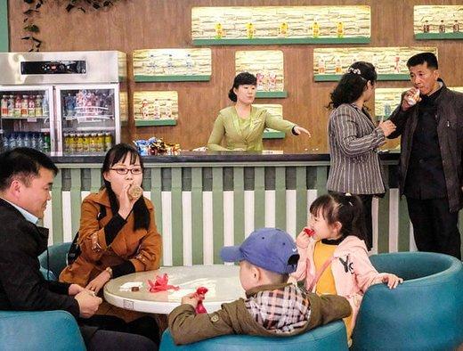داخل یک کافه در باغ وحش پیونگ یانگ