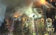فیلم | آتشسوزی مهارنشدنی در یک مجتمع مسکونی