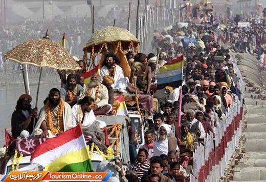 مراسم مذهبی کوم میلا  در الله آباد هند