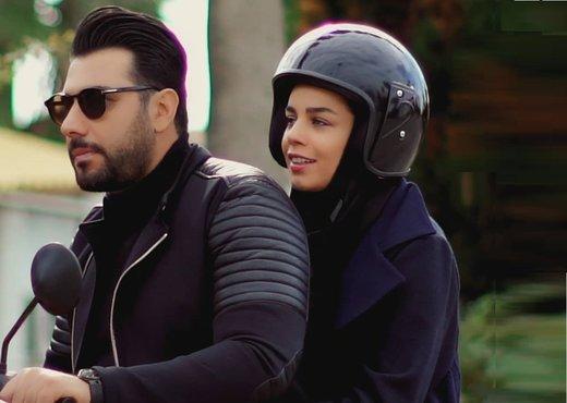 فیلم   احسان خواجهامیری و همسرش در پشت صحنه یک کلیپ جدید