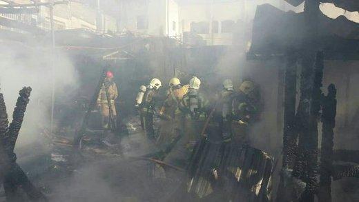 آتشسوزی یک رستوران در فرحزاد/ عکس