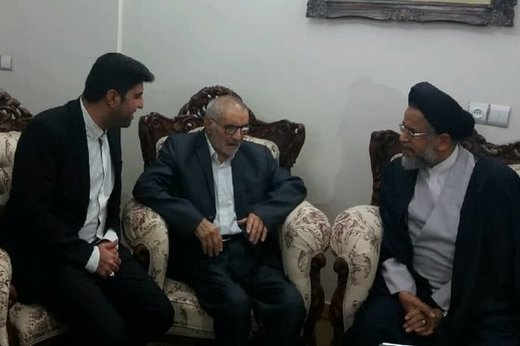 دیدار وزیر اطلاعات با پدر شهید فهمیده +عکس