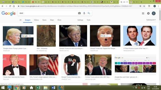 چرا وقتی کلمه احمق را سرچ میکنیم عکس ترامپ ظاهر میشود؟