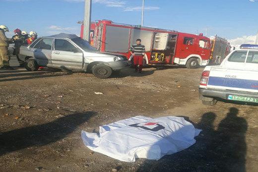 یک کشته و ۲ مصدوم در تصادف بزرگراه کرج