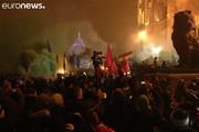 فیلم | درگیری گسترده معترضان قانون بردگی با پلیس مجارستان
