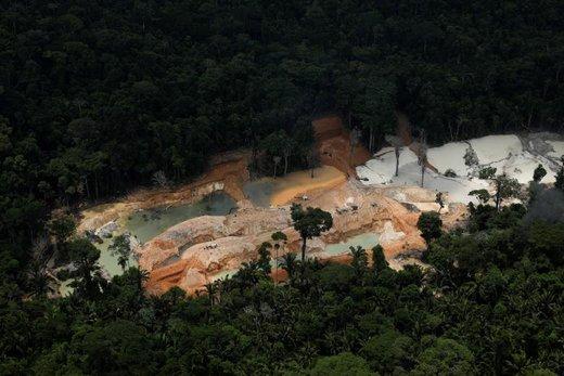 معدن غیرقانونی در ایالت پارا برزیل