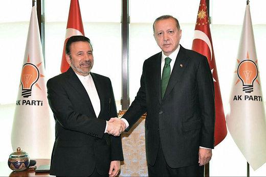 رئيس مکتب الرئيس روحاني يلتقي بالرئيس الترکي